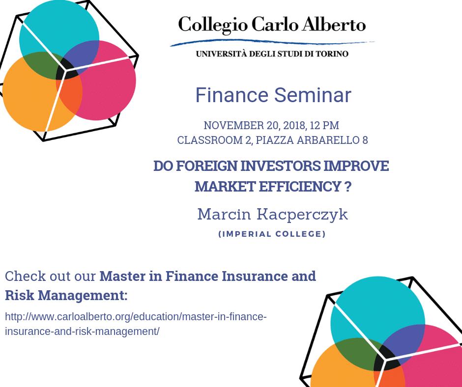 Finance Seminar November 20, 2018